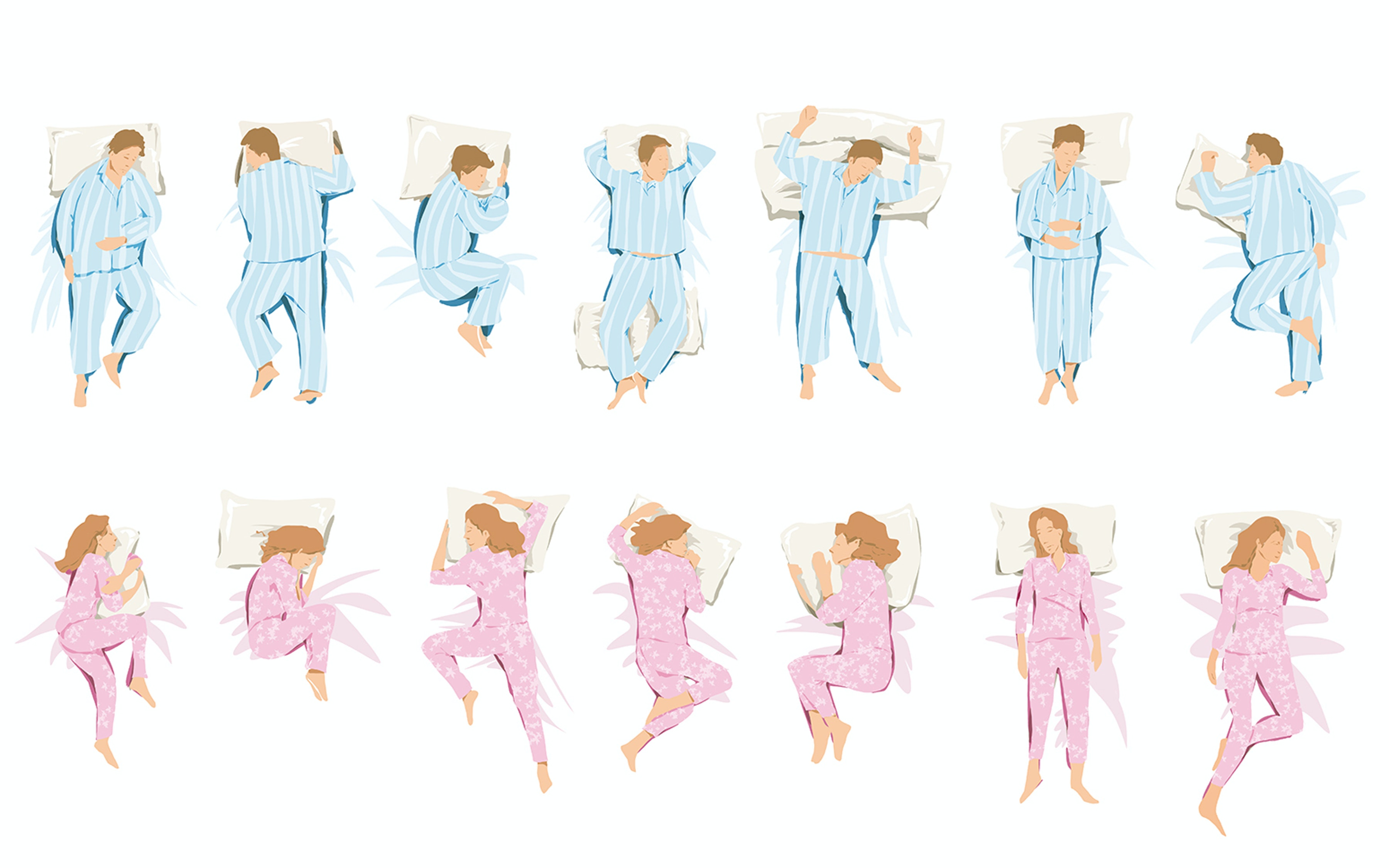 The best sleeping positions to improve sleep quality with Vita Talalay